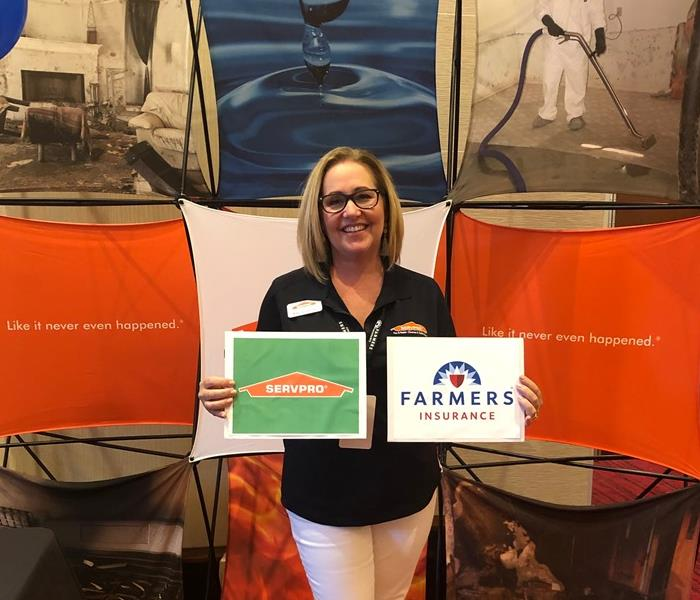 Farmers Insurance and SERVPRO signs