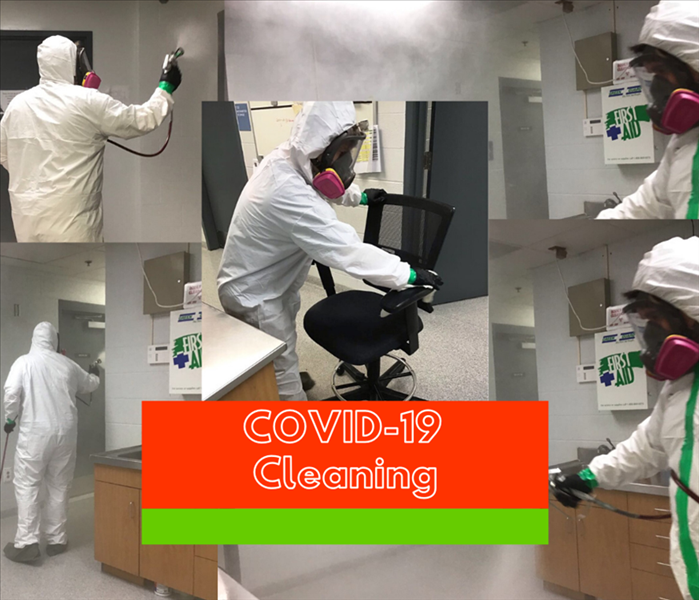 cleaning crew is PPE sanizing